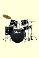De Rosa 522, 5 Piece Drum Kit - Multi Colors