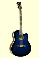 De Rosa Cutaway Acoustic/Electric Thin Body Guitar (Multi-Colors)