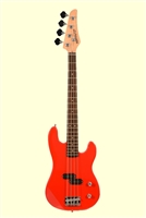 Huntington Red 4 String Short Scale Electric Bass Guitar