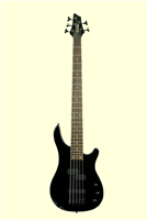Glen Burton Black 5 String Solid Body Electric Bass Guitar