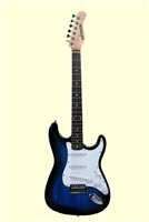 Huntington GE139 Outlaw Solid Body S-Type Electric Guitar - Blue Sunburst