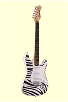 Huntington GE139 Outlaw Solid Body S-Type Electric Guitar - Zebra