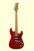 Glen Burton X Series Red Vintage MS102 Electric Guitar