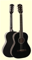"Indiana Pinto Black 36"" Guitar W/ Bag"
