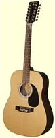 Indiana Scout 12 String Natural Guitar