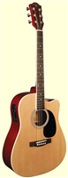 Indiana Scout Natural Cutaway Acoustic/Electric Guitar
