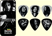 Bob Marley (Silver Portrait) Guitar Pick Set MAR1002HF