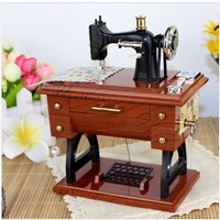 Vintage Treadle Sewing Machine Music Box