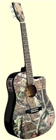 Mossy Oak Camo Acoustic/Electric Guitar