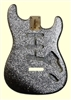 Stratocaster® Replacement Body SBF-SS Silver Sparkle Finished