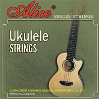 Alice AU02 Ukulele Strings Set - Black Nylon