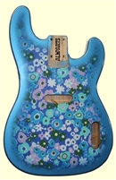 Blue Flower Finished Replacement Body for Telecaster® Bass®