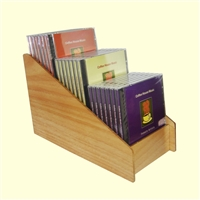 3 Tier 1x3 CD/DVD Storage Wood Display