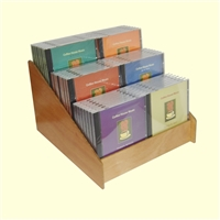 3 Tier 2x3 CD/DVD Storage Wood Display