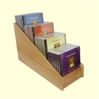 4 Tier 1x4 CD/DVD Storage Wood Display