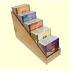 5 Tier 1x5 CD/DVD Storage Wood Display