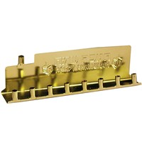 0066- Gold Tin Menorah