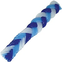 0087-B- Flat Havdalah Candle - Blue/White