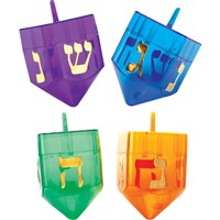 0104- Refillable Dreidels (Asst Colors)