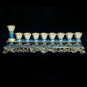 1061- Menorah, jeweled 7""