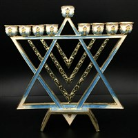 1062- Menorah, jeweled  7""