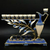 1067- Menorah, jeweled   7""