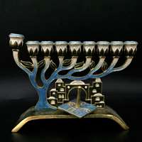 1068- Menorah, jeweled  7""