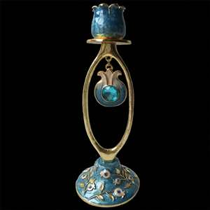"1136- Candlestick, jeweled, 7"" SINGLE"