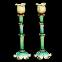 "1152-PR- Candlesticks, jeweled,7"" Pair"