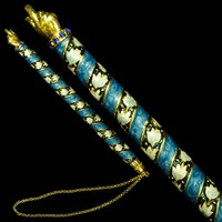 1174- Torah Pointer (Yad), jeweled, 7""