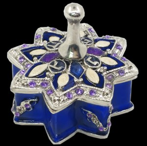 1177- Jewelry Box, jeweled , metal