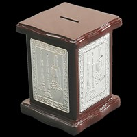 1181- Silver Plated Charity Box