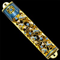 1217- Mezuzah Case, jeweled, medium