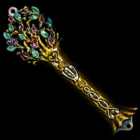 1237- Mezuzah Case, jeweled, small