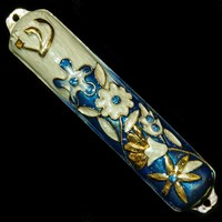 1254- Mezuzah Case, jeweled, small