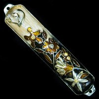 1255- Mezuzah Case, jeweled, small