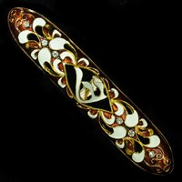 1257- Mezuzah Case, jeweled, large