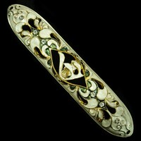 1259- Mezuzah Case, jeweled, large