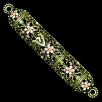 1260- Mezuzah Case, jeweled, small