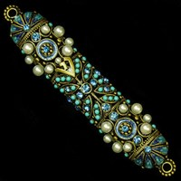 1261- Mezuzah Case, jeweled, small