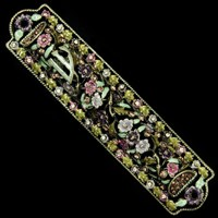 1263- Mezuzah Case, jeweled, medium