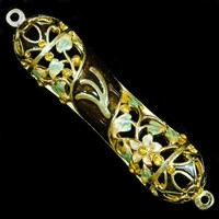 1264- Mezuzah Case, jeweled, small