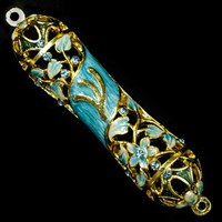 1265- Mezuzah Case, jeweled, small