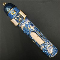 1272- Mezuzah Case, jeweled, medium
