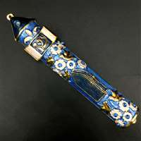 1276- Mezuzah Case, jeweled, medium