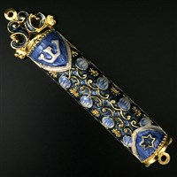 1280- Mezuzah Case, jeweled, medium