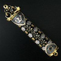 1280-C- Mezuzah Case, jeweled,small
