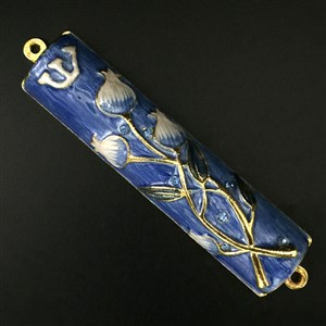 1281- Mezuzah Case, jeweled, small