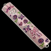 1290- Mezuzah Case, jeweled, small