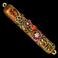1292- Mezuzah Case, jeweled, small